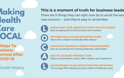 The five steps of LOCAL health plans from Dave Chase